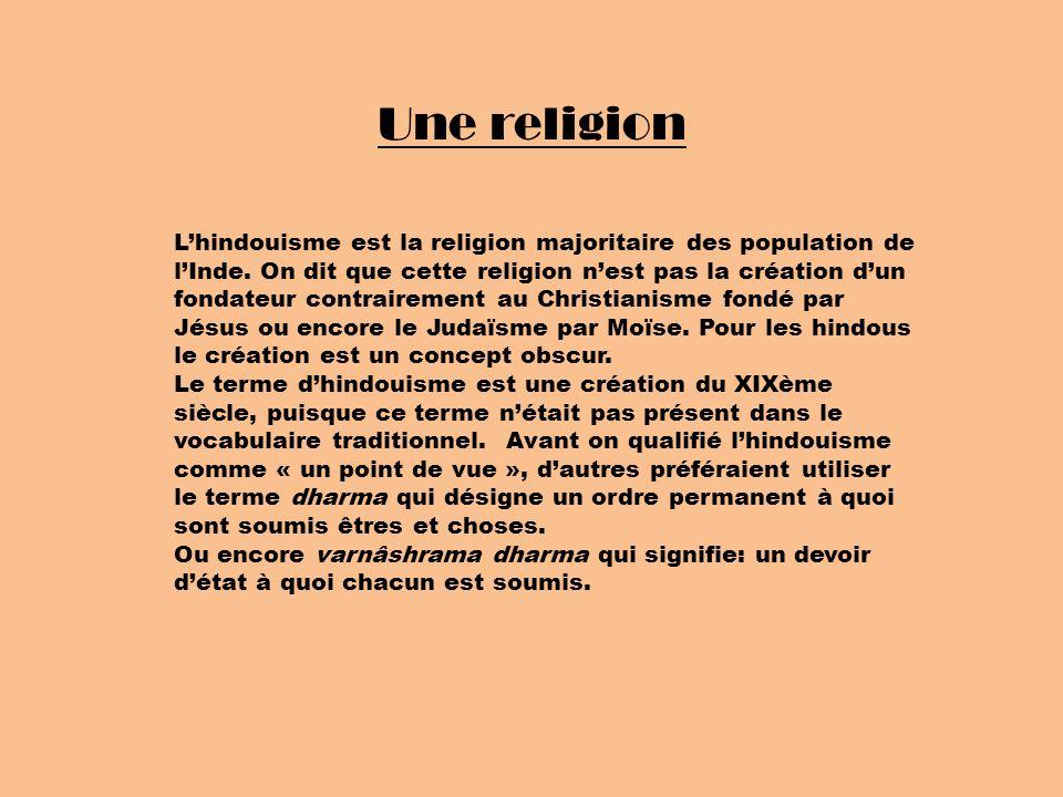 Une religion