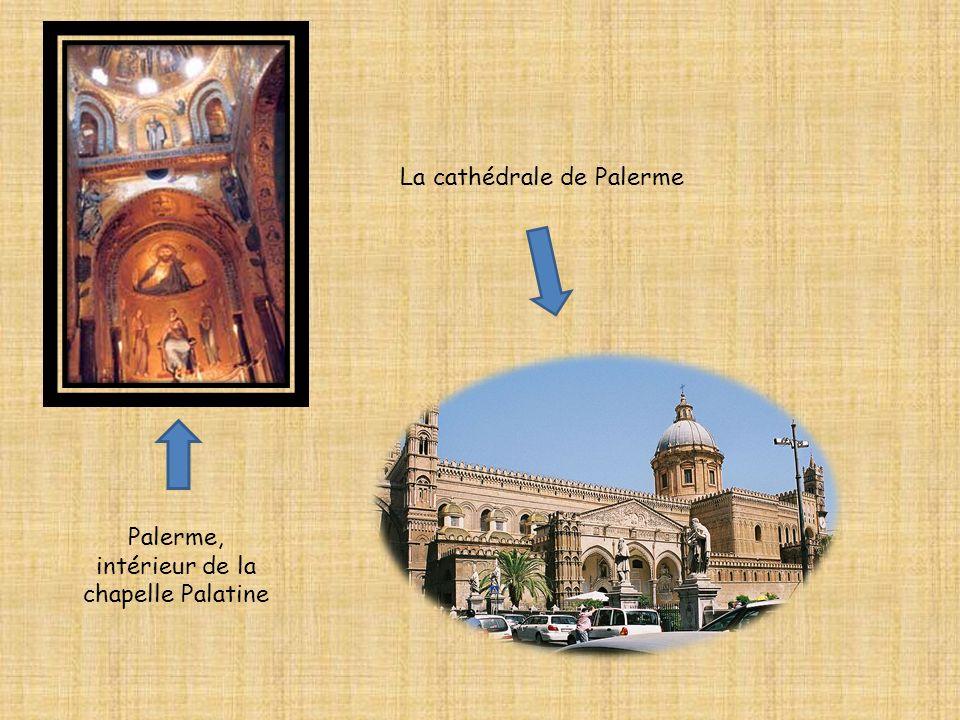 Palerme, intérieur de la chapelle Palatine