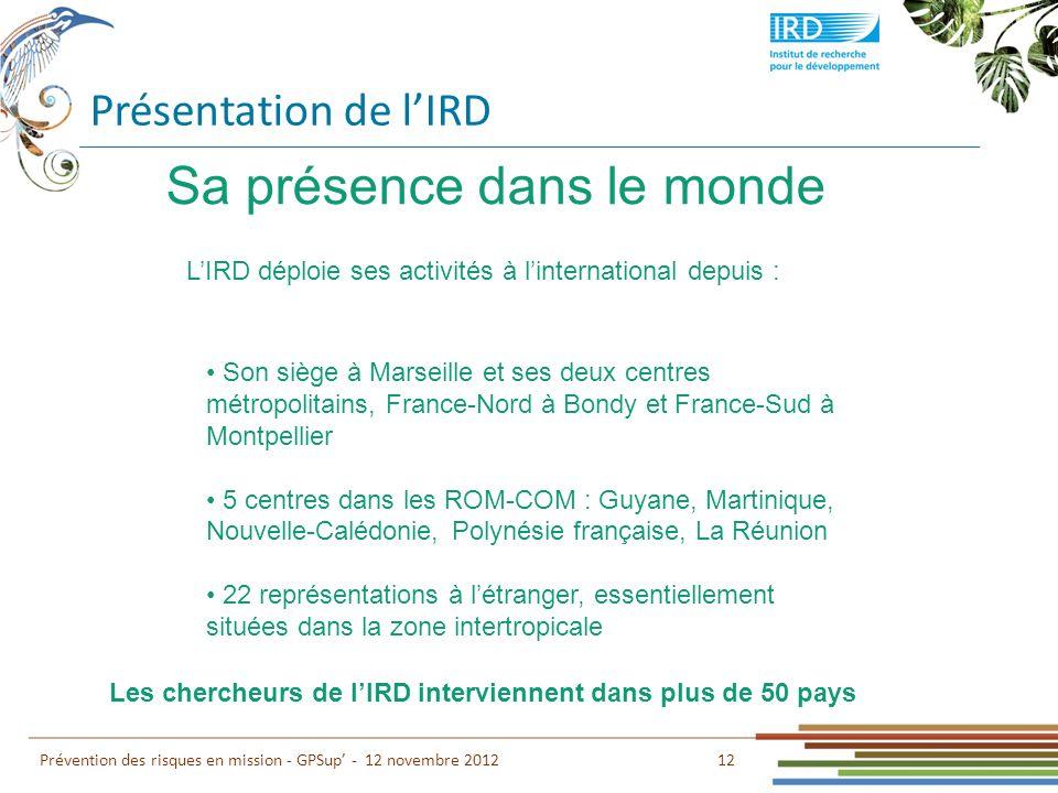 Les chercheurs de l'IRD interviennent dans plus de 50 pays