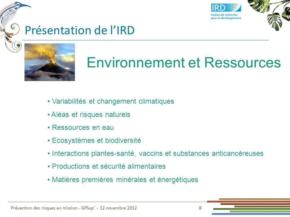 Environnement et Ressources