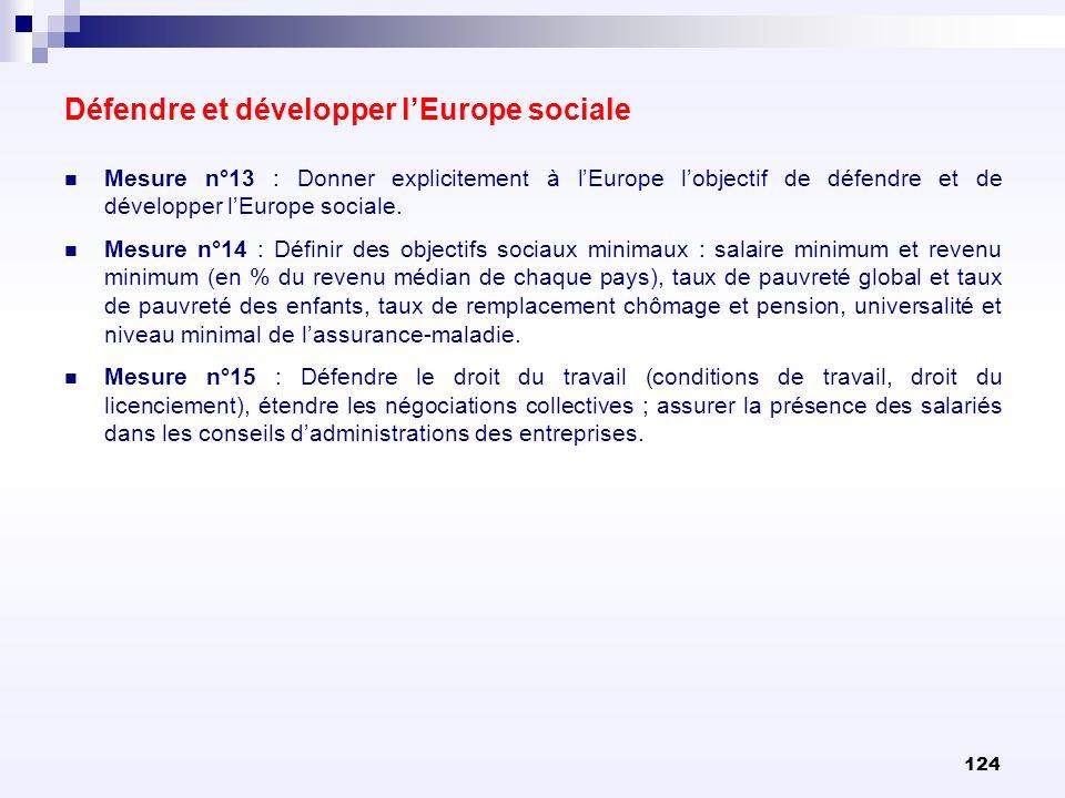 Défendre et développer l'Europe sociale