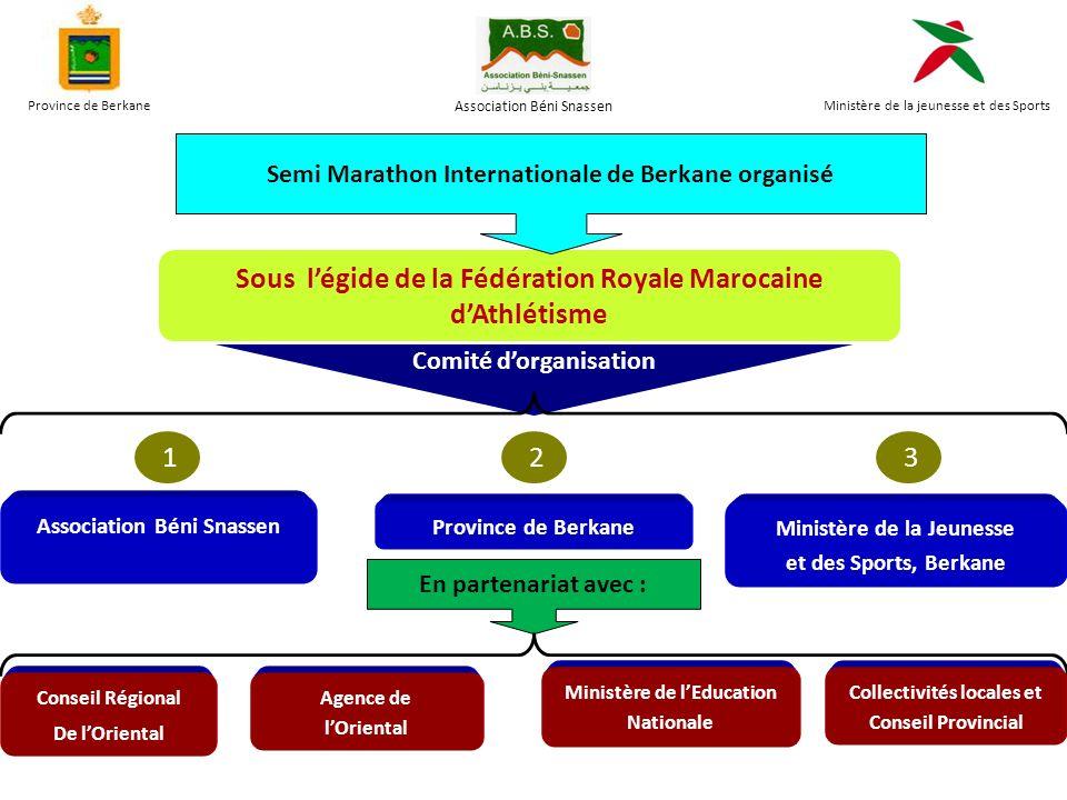 Sous l'égide de la Fédération Royale Marocaine d'Athlétisme