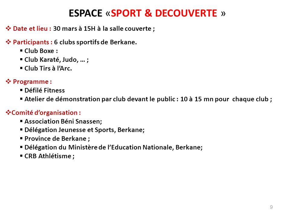 ESPACE «SPORT & DECOUVERTE »