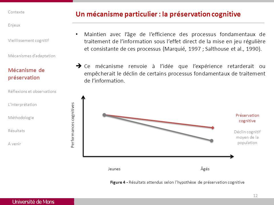 Un mécanisme particulier : la préservation cognitive