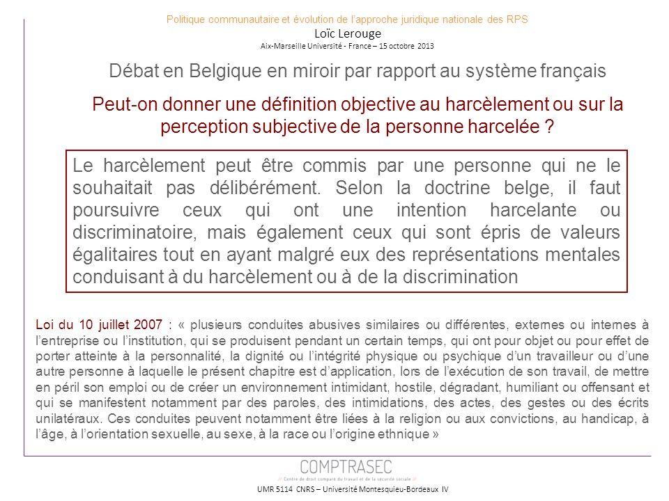 Débat en Belgique en miroir par rapport au système français
