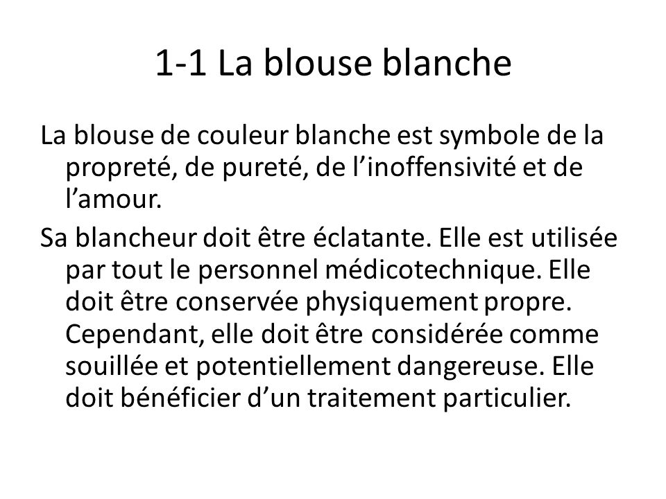 1-1 La blouse blanche