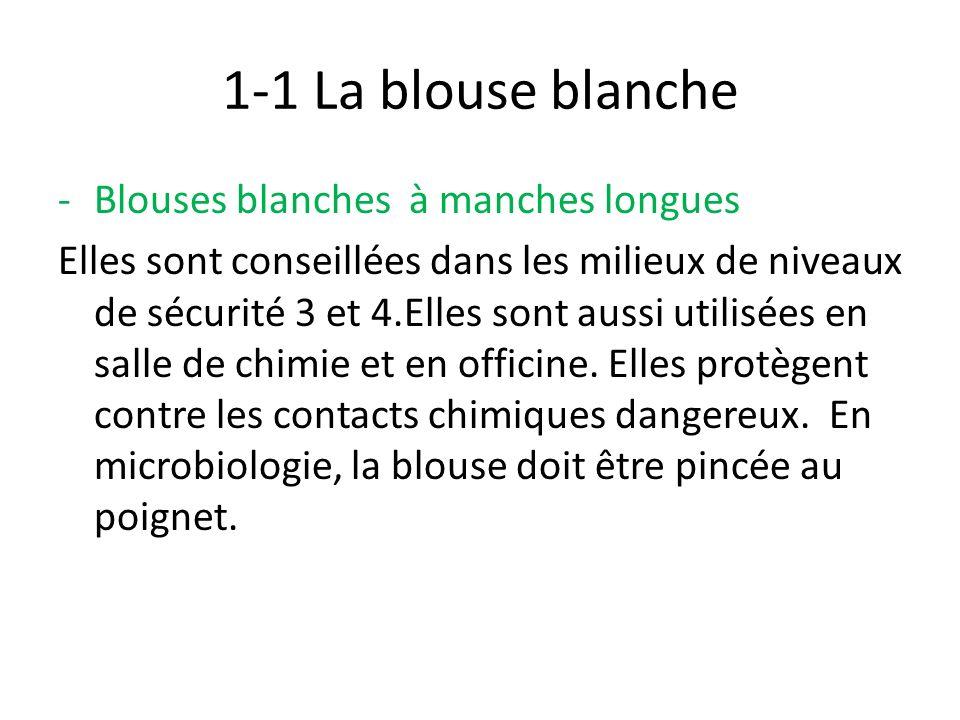 1-1 La blouse blanche Blouses blanches à manches longues