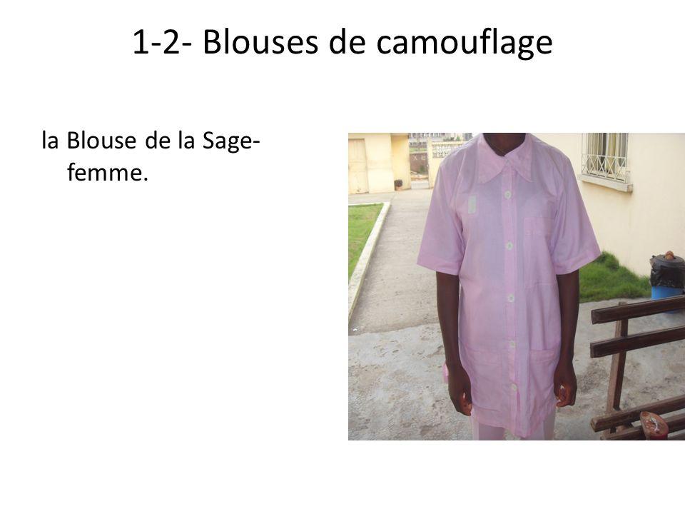 1-2- Blouses de camouflage
