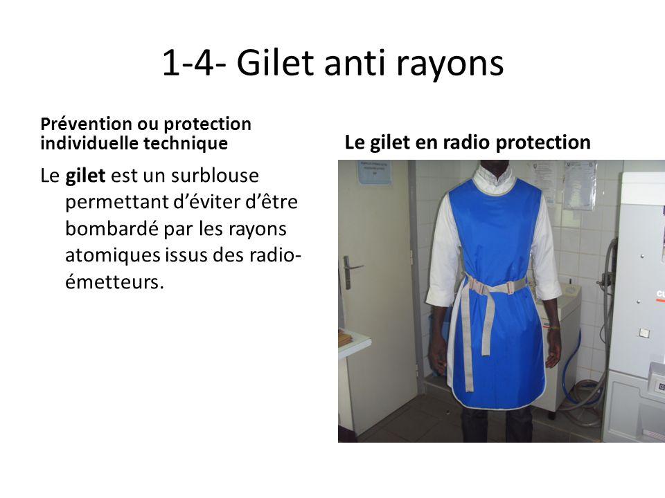 1-4- Gilet anti rayons Le gilet en radio protection