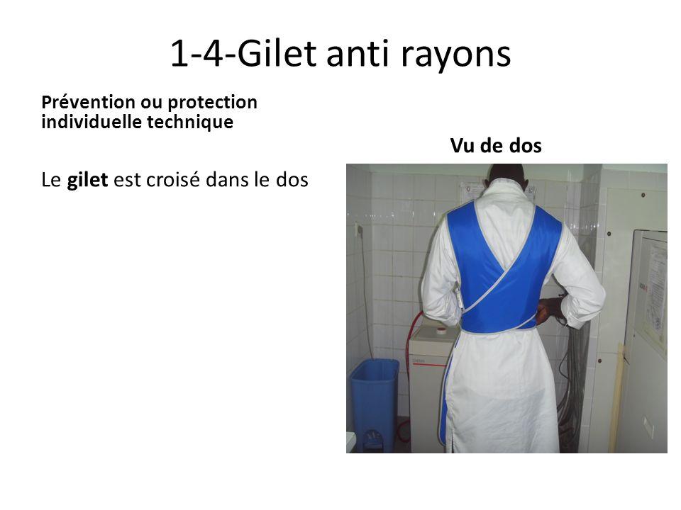 1-4-Gilet anti rayons Vu de dos Le gilet est croisé dans le dos