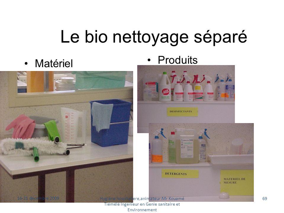 Le bio nettoyage séparé