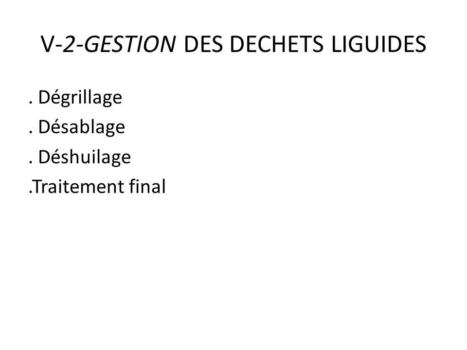 V-2-GESTION DES DECHETS LIGUIDES
