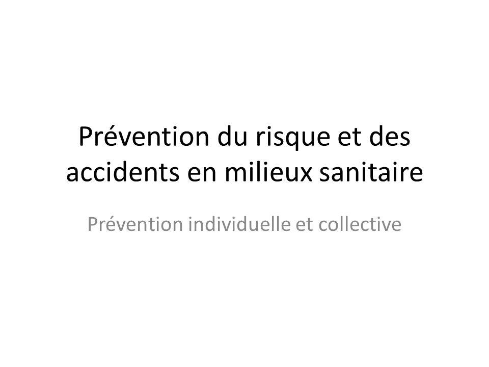 Prévention du risque et des accidents en milieux sanitaire