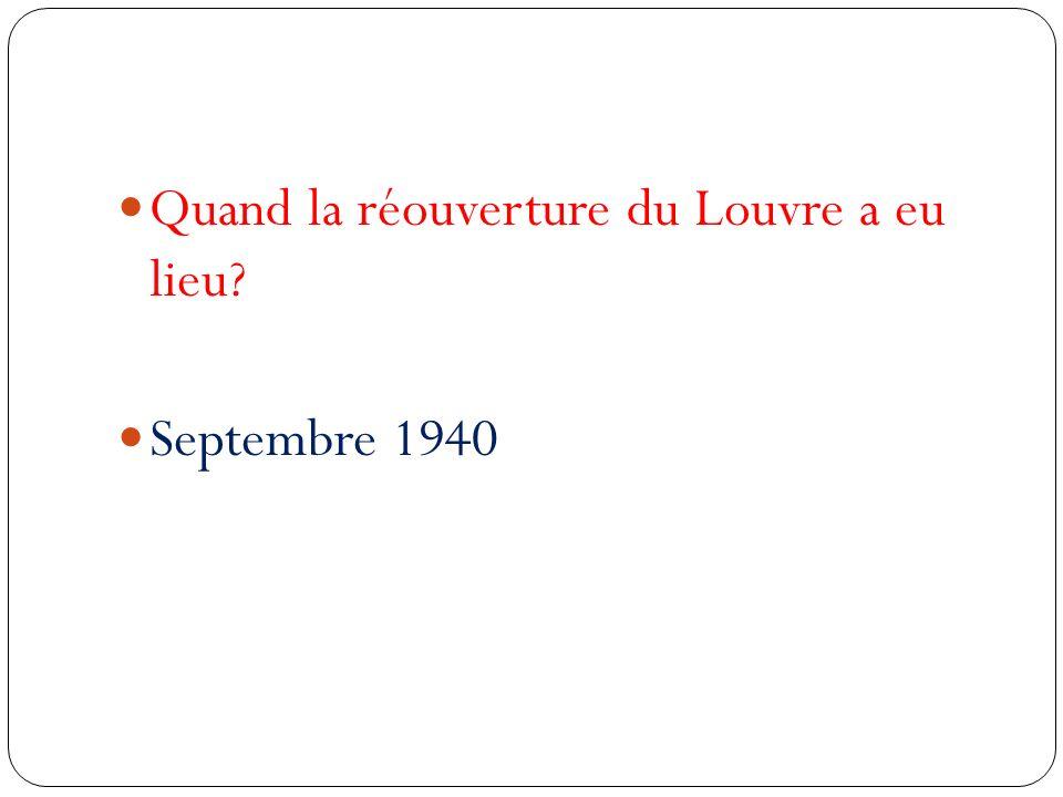 Quand la réouverture du Louvre a eu lieu