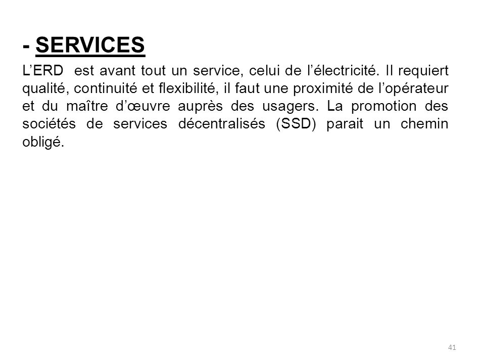 - SERVICES