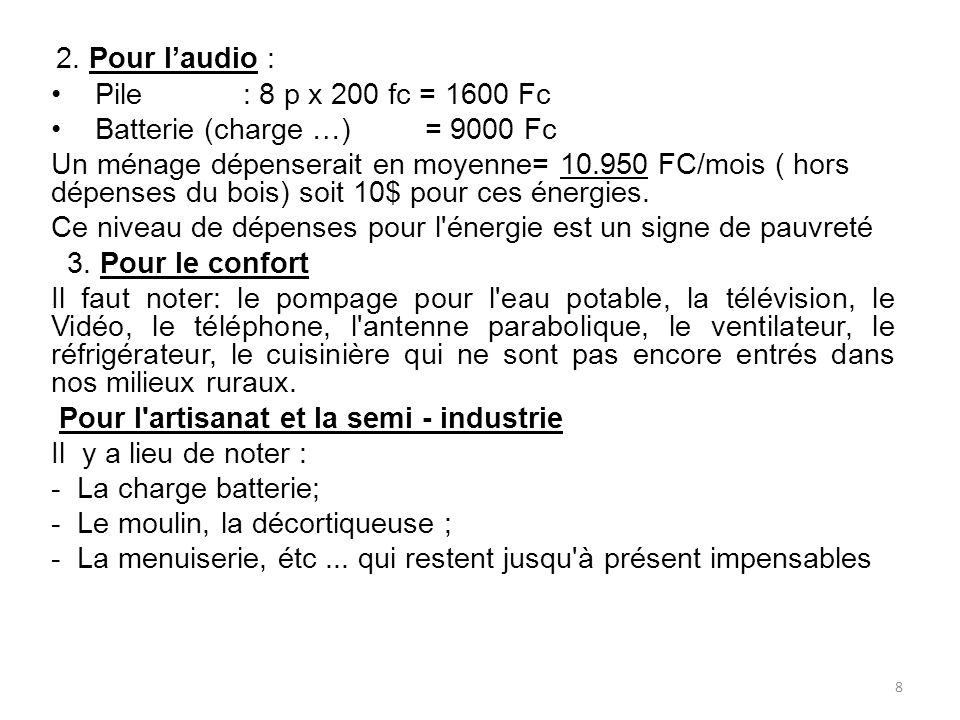 Batterie (charge …) = 9000 Fc