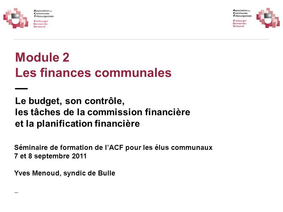 Module 2 Les finances communales — Le budget, son contrôle,