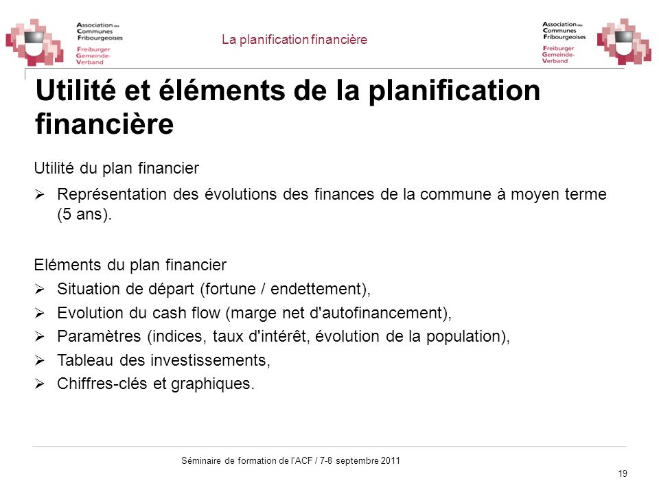 Utilité et éléments de la planification financière