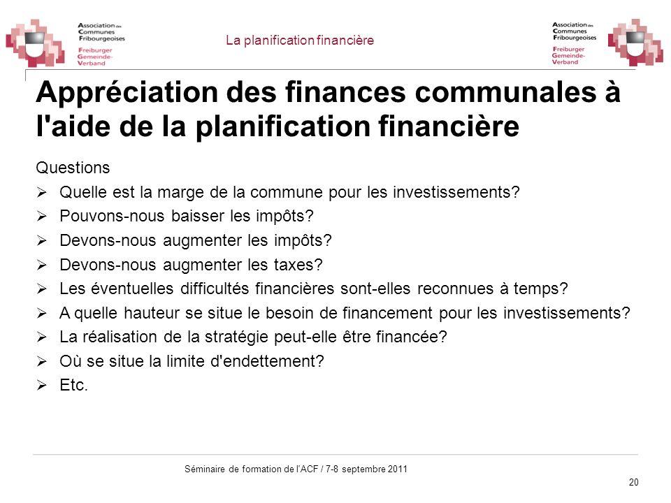 La planification financière