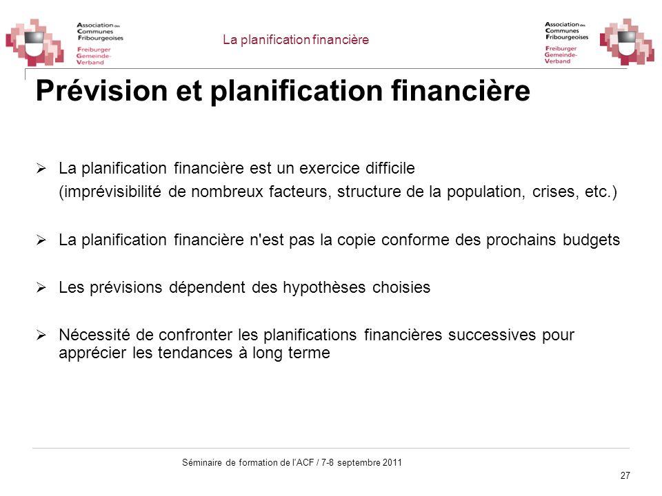Prévision et planification financière