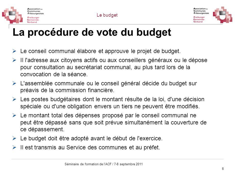 La procédure de vote du budget