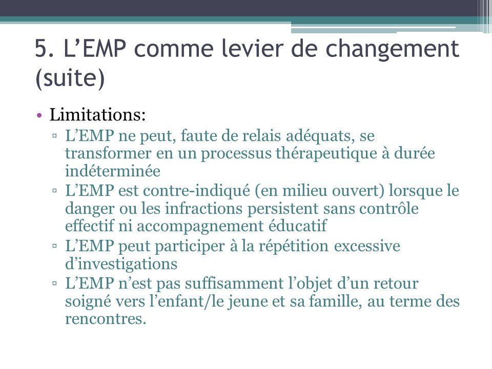 5. L'EMP comme levier de changement (suite)