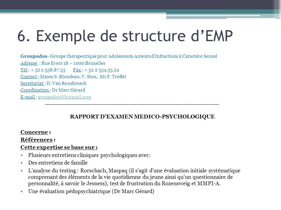 6. Exemple de structure d'EMP