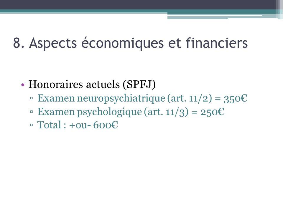 8. Aspects économiques et financiers