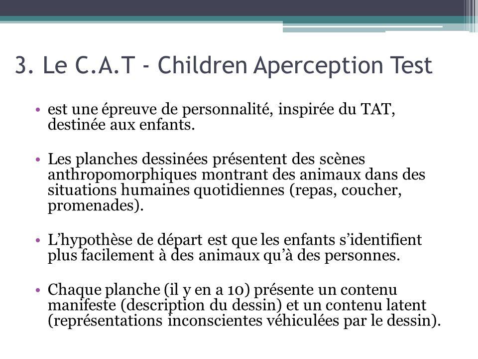 3. Le C.A.T - Children Aperception Test