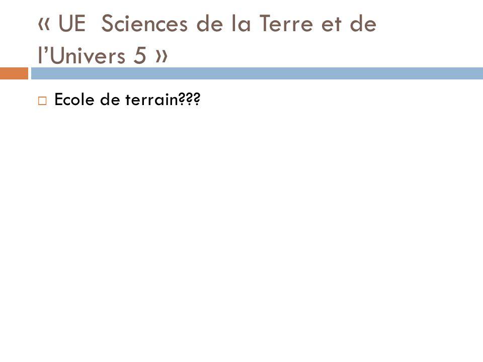 « UE Sciences de la Terre et de l'Univers 5 »