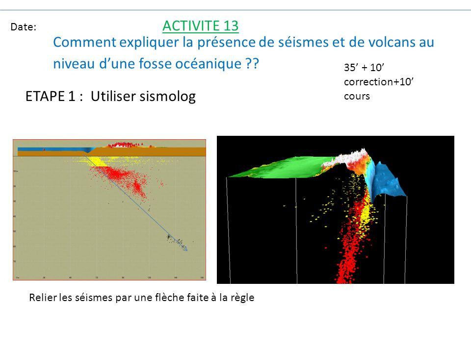 ETAPE 1 : Utiliser sismolog
