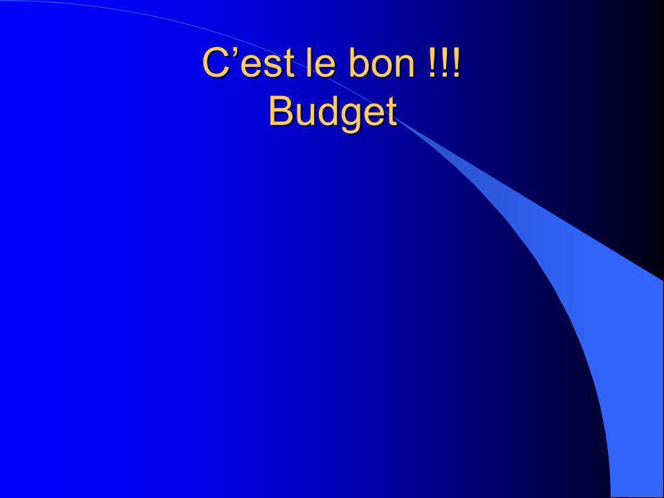 C'est le bon !!! Budget