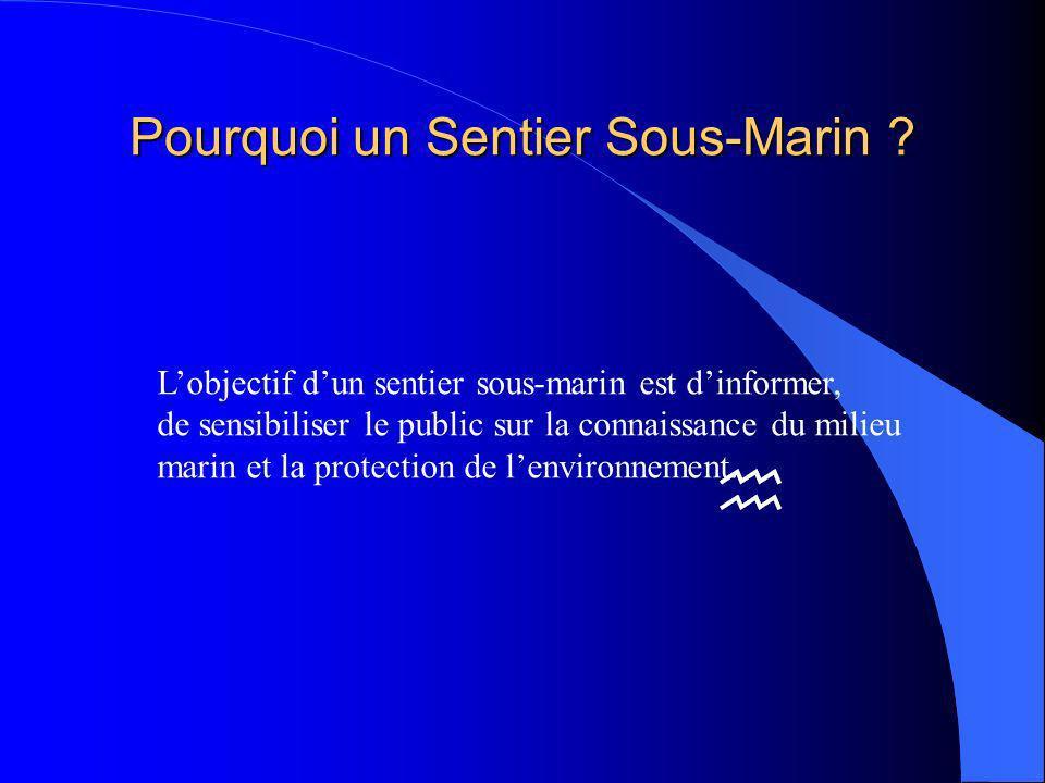 Pourquoi un Sentier Sous-Marin
