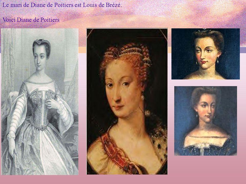 Le mari de Diane de Poitiers est Louis de Brézé.