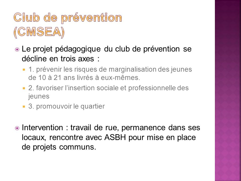Club de prévention (cmsea)
