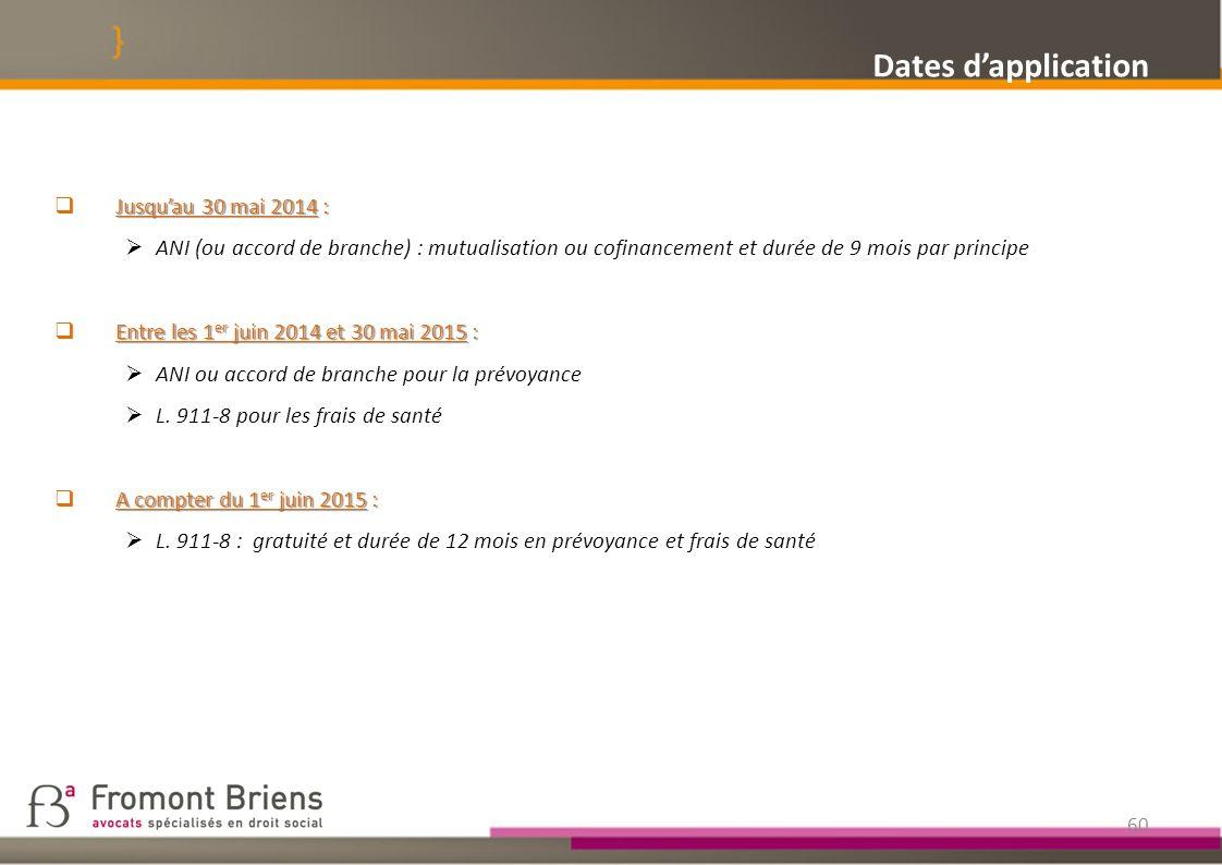 Dates d'application Jusqu'au 30 mai 2014 :