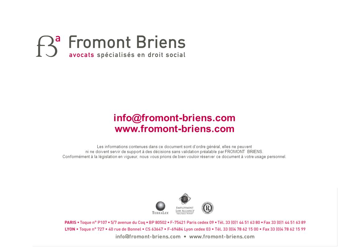 info@fromont-briens.com www.fromont-briens.com