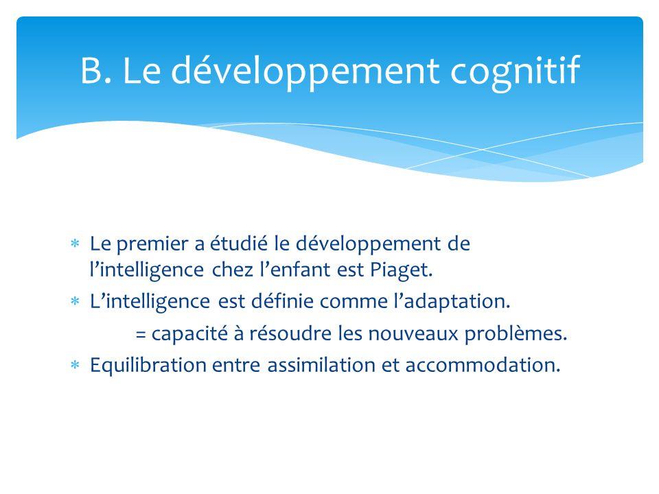 B. Le développement cognitif