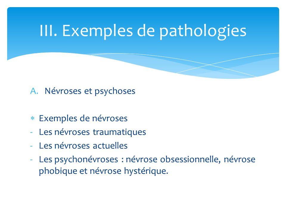 III. Exemples de pathologies