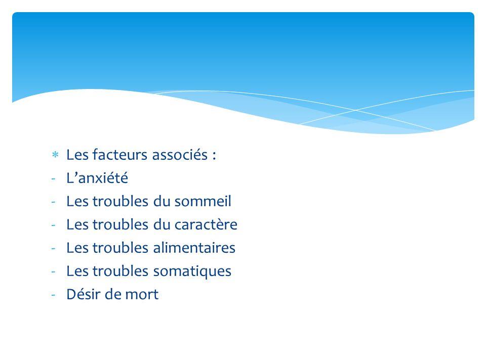 Les facteurs associés :