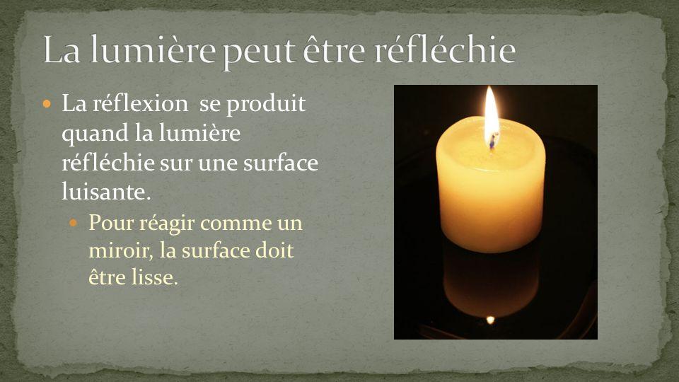 La lumière peut être réfléchie