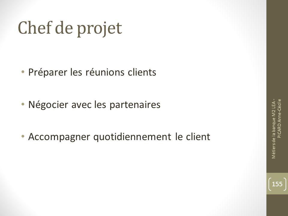Chef de projet Préparer les réunions clients
