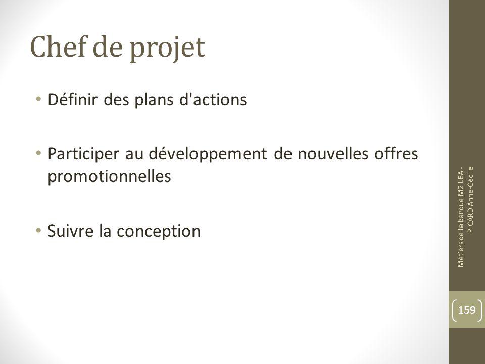 Chef de projet Définir des plans d actions