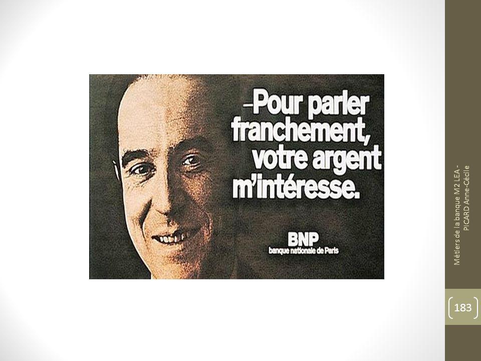 Métiers de la banque M2 LEA - PICARD Anne-Cécile