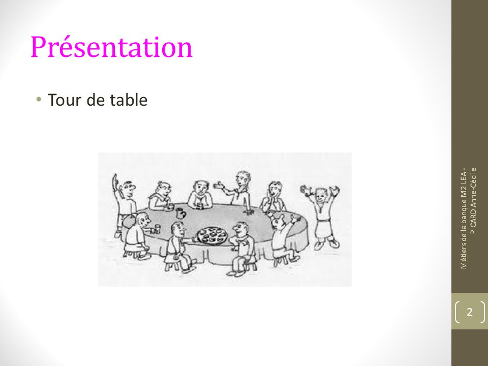 Présentation Tour de table