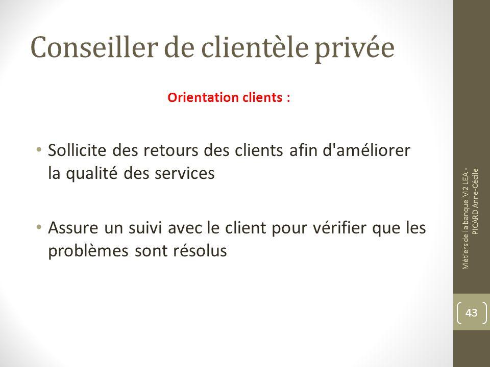 Conseiller de clientèle privée