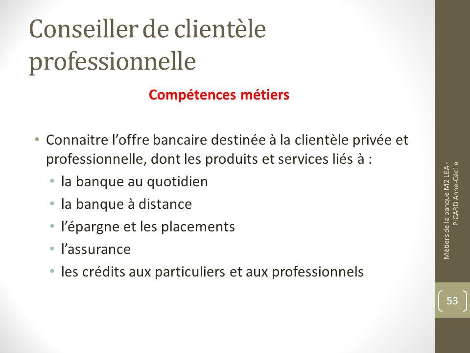 Conseiller de clientèle professionnelle