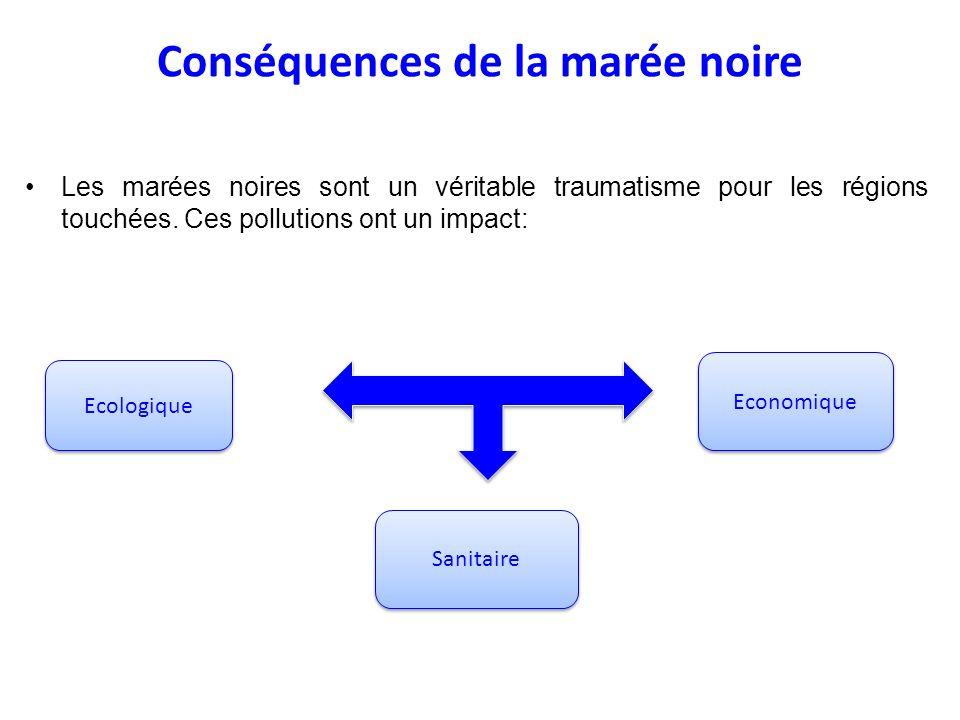 Conséquences de la marée noire