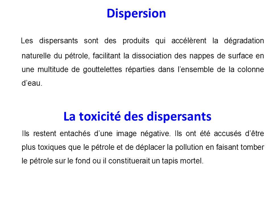 La toxicité des dispersants
