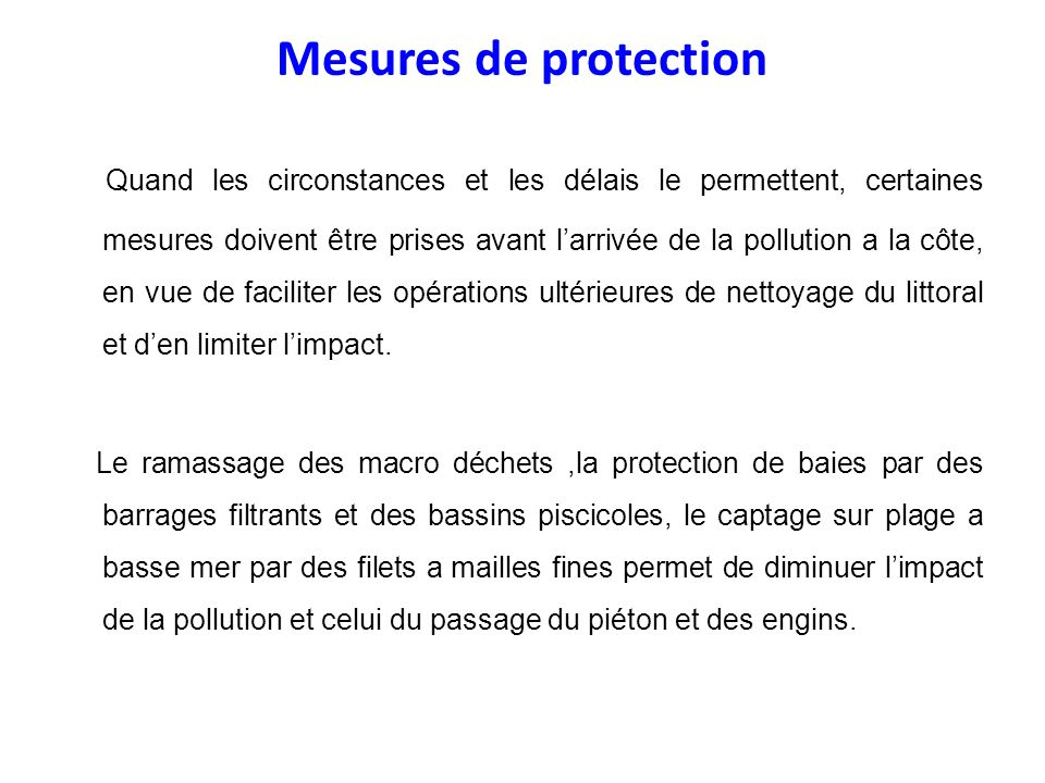 Mesures de protection